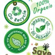 Go recycle label — Vector de stock #9474778