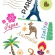 Stockvector : Travel icon set