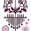 Stock Vector: Sketch Chandelier