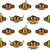 Monkey heads background — Stock Vector