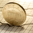 Stock Photo: Coin on chart