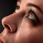 Beauty girl cry — Stock Photo