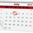 Stock Vector: Holiday calendar for 4 July