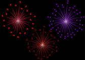Set of fireworks — Stock Vector