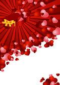 Carte de voeux avec un fond rouge — Vecteur