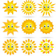 Royalty-Free Stock Imagen vectorial: Collection of suns