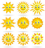Collection of suns — Stock Vector