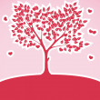 Tree of Love Abstract Background — Stock Vector