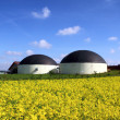 Stock Photo: Biogas plant