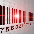 Barcode-scan — Stockfoto