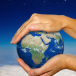 Stock Photo: Eearth in hands