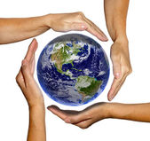 Eearth in hands — Stock Photo