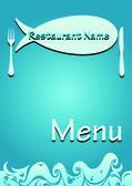 Vector restaurant fish menu — Stock Vector