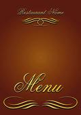 Vector restaurant menù (01) — Stock Vector