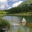 Lake scenery in the Italian Alps — Stock Photo #9992030
