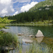Stock Photo: Lake scenery in the Italian Alps