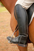 Closeup of a foot in a stirrup — Stock Photo
