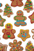 Colorful, glazed gingerbread Christmas cookies — Stock Photo