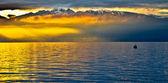 Sunrise at Chablais Alps — Stock fotografie