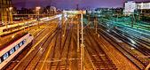 Geneva Trainyard — Stock Photo