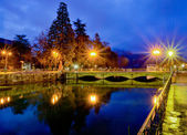 Annecy, France canal and bridge — Stock Photo