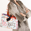 Fashionable handbag of a woman — Stock Photo
