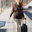 Older lady on road — Stockfoto #8153395