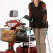Stock Photo: Disabled older women