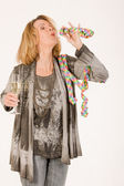 Funny old woman — Stock Photo