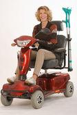 Ältere Frauen mit Behinderungen — Stockfoto
