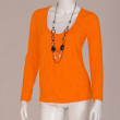 Orange T-shirt with chain — Stock Photo #9083036