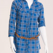 Blue blouse with belt — Stok fotoğraf