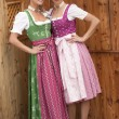 Bavarian girls in costume — Stock Photo