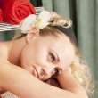 Face of a woman relaxing — Stockfoto