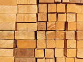 A pile of planks — Stock Photo