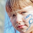 "Stock Photo: Girl with dragon ""tatoo"""