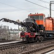 Stock Photo: Repair of railway