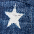 Detail of torn blue denim — Stock Photo #9198073