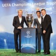 Royalty-Free Stock Photo: Ambassadors UEFA Mihaylichenko, Figo, Suker