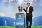 Suker with Champions League Cup — Stock Photo