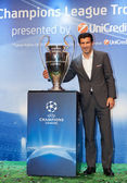 Figo with Champions League Cup — Stock Photo