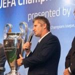 Ambassadors UEFA Mihaylichenko, Figo, Suker — Stock Photo #9693628