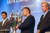 Ambassadors UEFA Mihaylichenko, Figo, Suker — Stock Photo