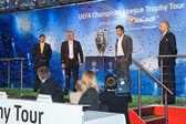 Presentation UEFA Champions League trophy — Stock Photo