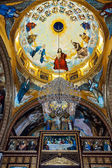 Golden mosaic in Coptic Church — Stock Photo