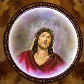 Jesus with crown of thorns — Foto de Stock