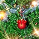 Weihnachtsbaum-Hintergrund — Stockfoto