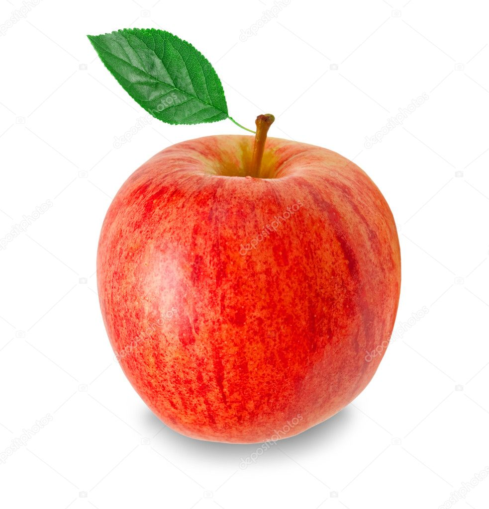 Red apple isolated on white background — Stock Photo #8445419
