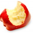 Bitten red apple isolated on white background — Stock Photo
