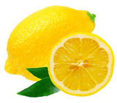Lemon isolated on white background — Stock Photo